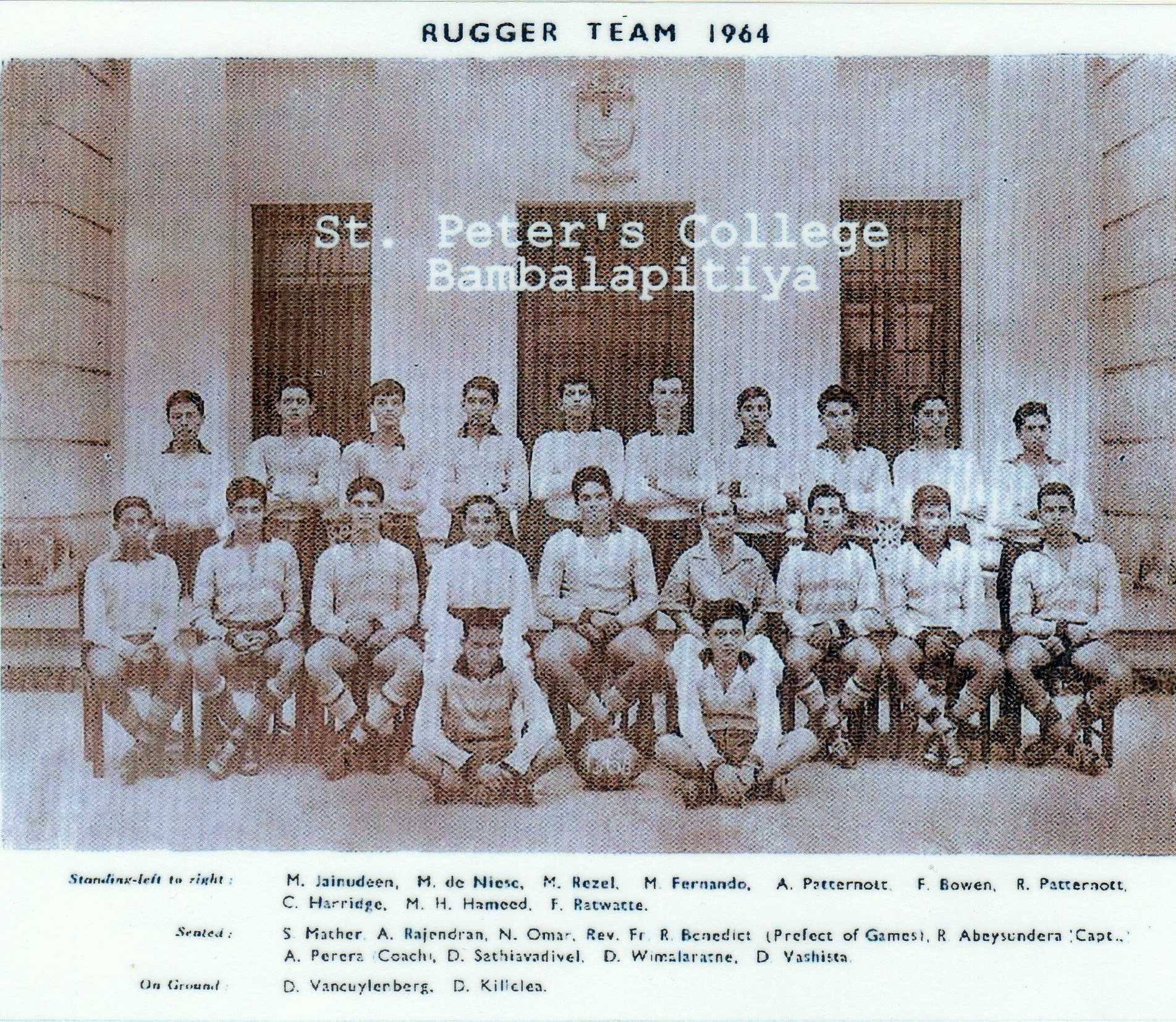 ROHAN ABEYESUNDERA: Peterite sports star of the 60s - Rugby, Cricket & Athletics represented Ceylon RFU from 1966 - 1971