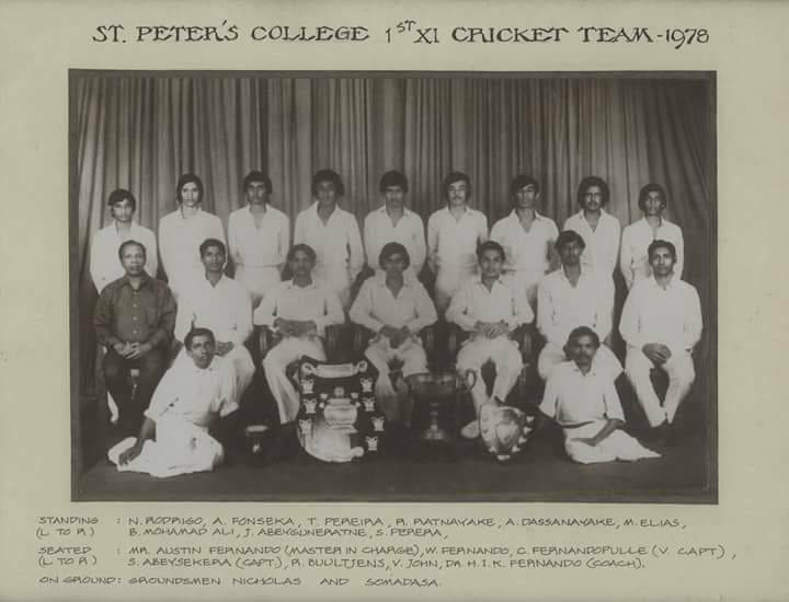 Suraj Abeysekera led St. Peter's to victory in 1978