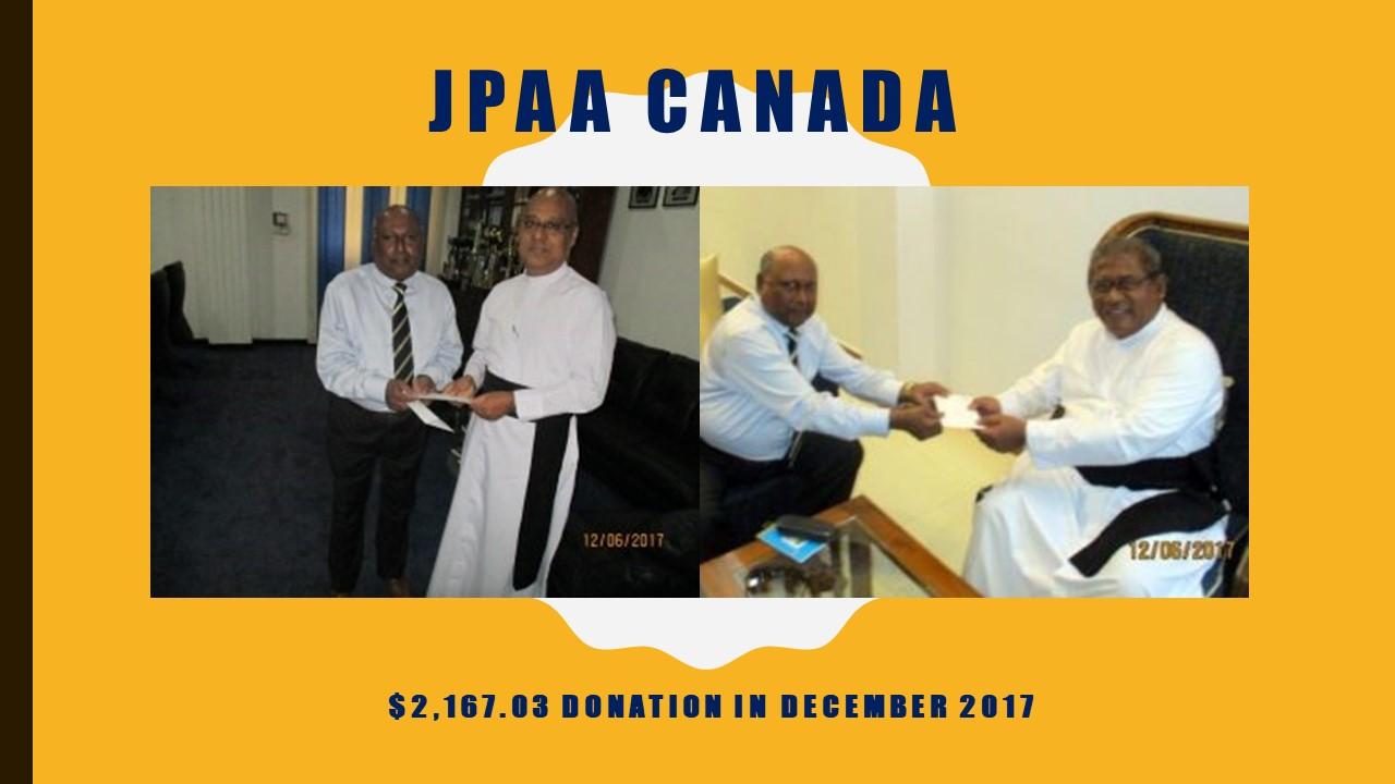 Disbursements - JPAA Canada Trust Fund