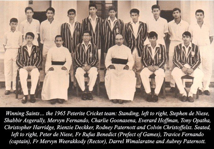 1965 Big Match: Travis Fernando leads Peterites to 6 wicket victory