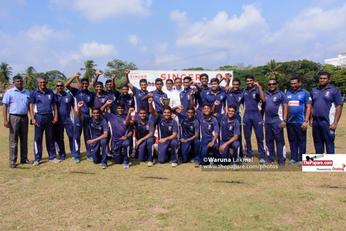 St. Joseph's cricketers win Singer Schools U-19 Division 1 title for 2019