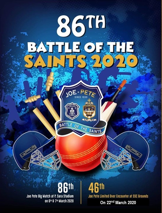 "86th ""Battle of the Saints"" at The Oval on March 6th & 7th, 2020"